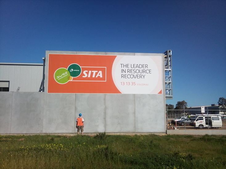 SITA large outdoor banner
