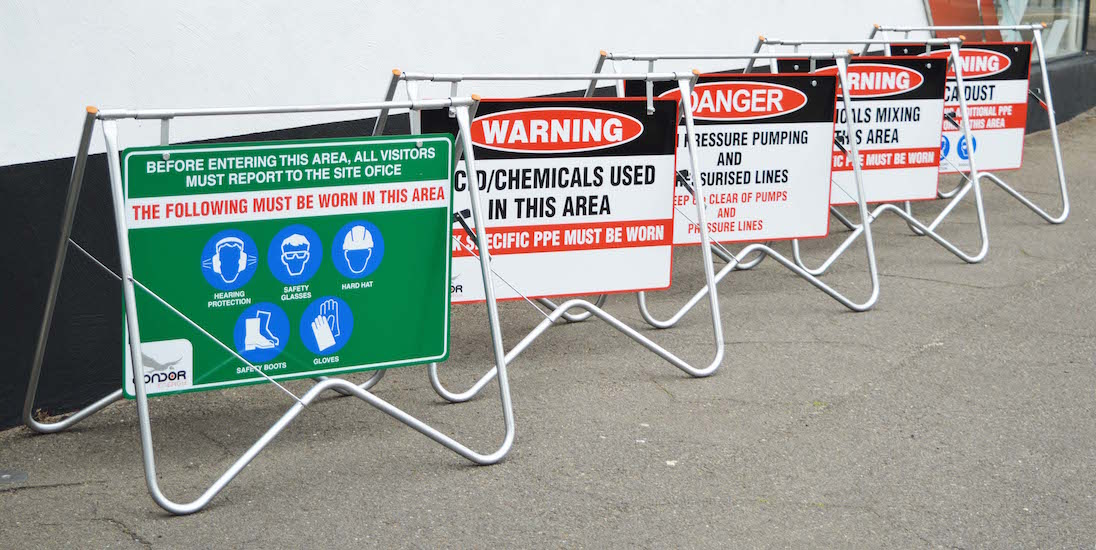 Worksite safety signs