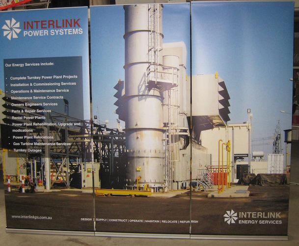 Interlink banner stands