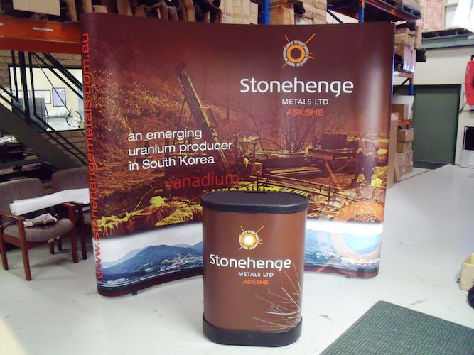 stonehenge metals tradeshow display