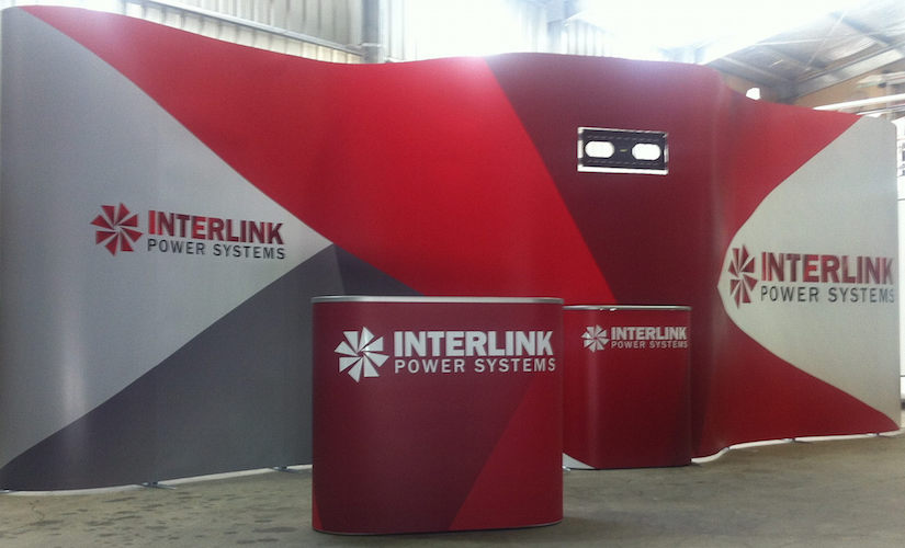 Interlink exhibition media wall