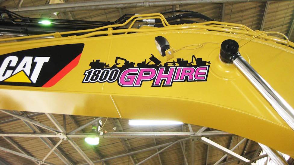 GPHire machinery spot graphics