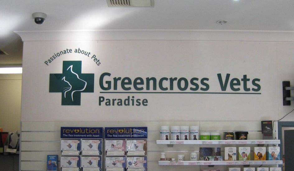 Greencross Vets interior signage