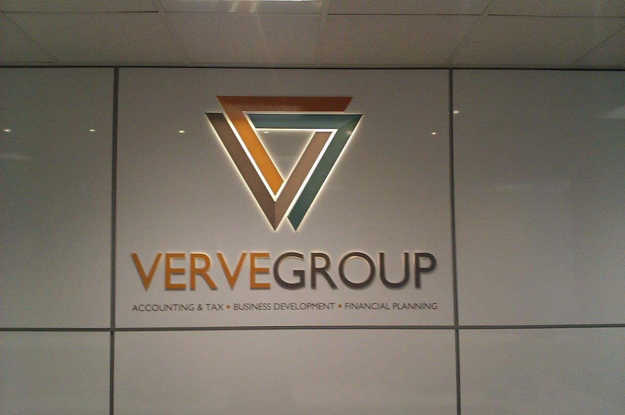 Verve group led illuminated sign
