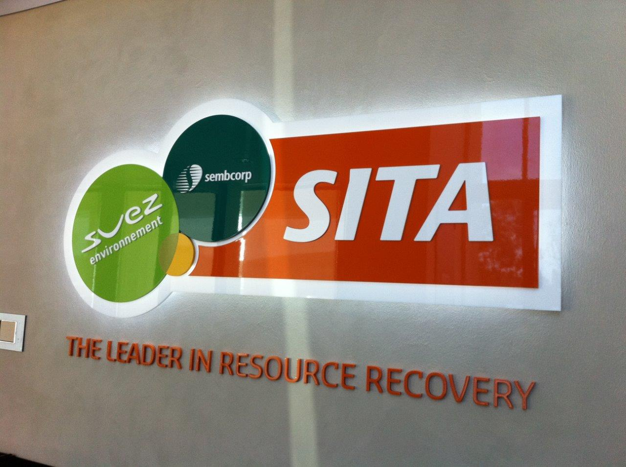 SITA LED illuminated sign