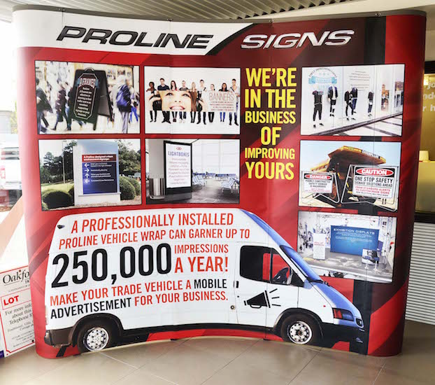 Proline Signs exhibition display