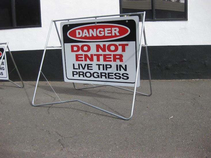 Danger safety sign