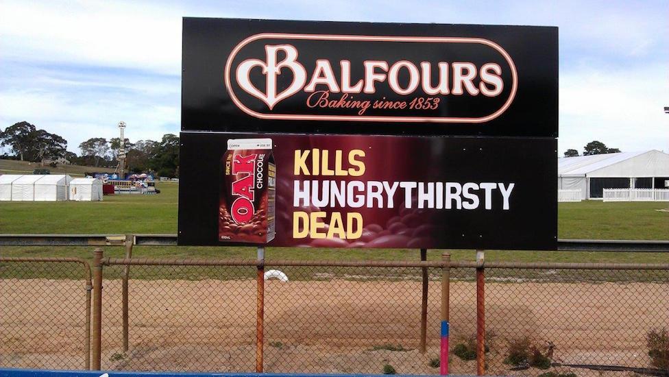 balfours/oak event signage