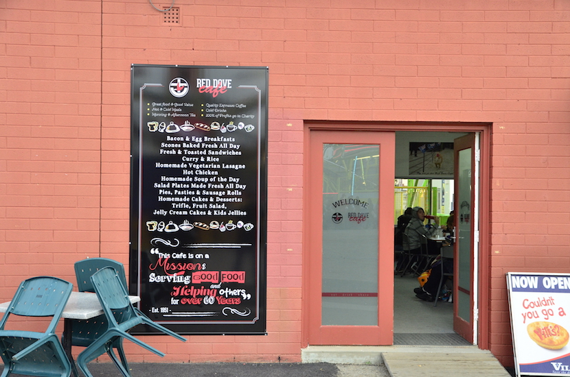 red dove cafe menu board