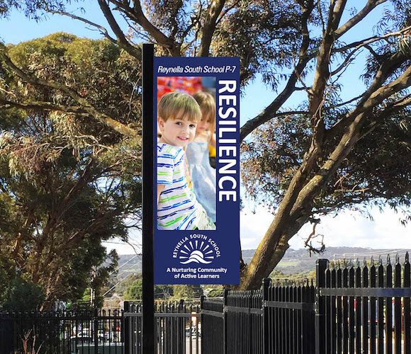 Reynella school panel sign
