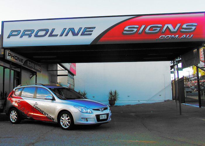 proline vehicle and building branding