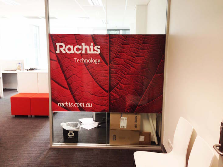 Rachis technology window sign